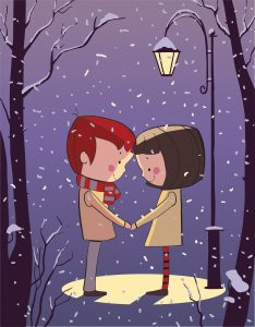 Cartoon of people holding hands