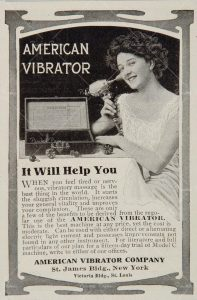 Newspaper ad of for an American Vibrator